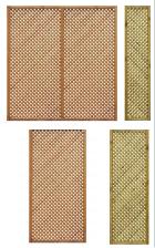 Treillis diagonal droit Lila cadre 44/44 maille 20/20 mm